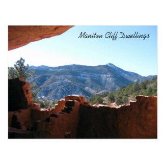 Cartão Postal Mountain View das moradias de penhasco