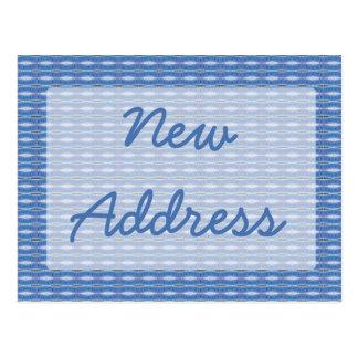 Cartão Postal Mover-se azul do teste padrão