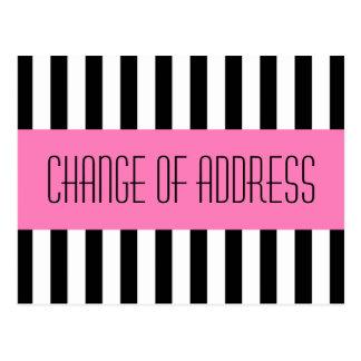 Cartão Postal Mover-se novo cor-de-rosa elegante na moda do