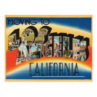 Cartão Postal Mover-se para a mudança do vintage de Los Angeles