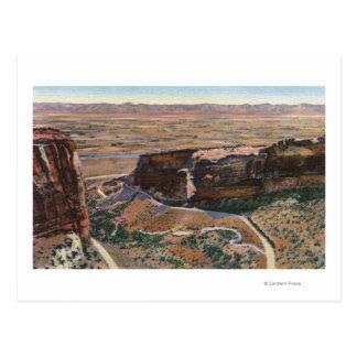 Cartão Postal Movimentação da borda da garganta & do monumento