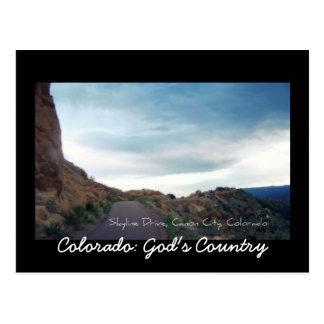 Cartão Postal Movimentação da skyline, cidade de Canon, Colorado