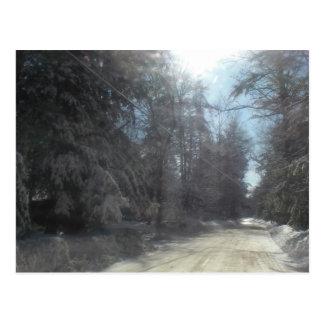 Cartão Postal movimentação do inverno