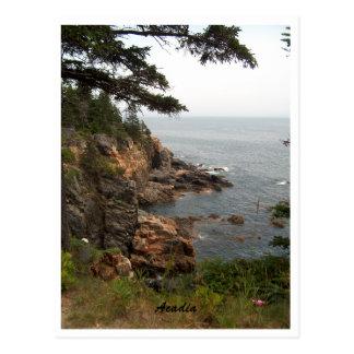 Cartão Postal Movimentação do oceano no Acadia