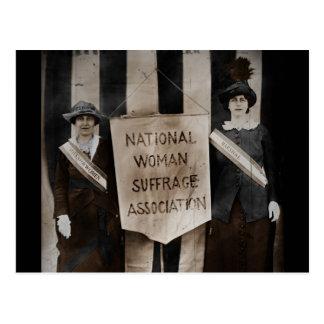 Cartão Postal Movimento do sufrágio das mulheres