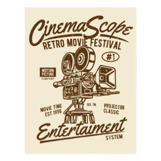 Cartão Postal Movimento retro clássico da câmera de Hollywood do
