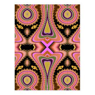Cartão Postal Movimentos Groovy do Blowfish do pêssego