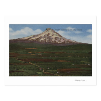 Cartão Postal Mt. Capa, Oregon - vista da montanha da capa 2