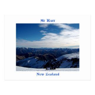 Cartão Postal Mt Hutt, Nova Zelândia