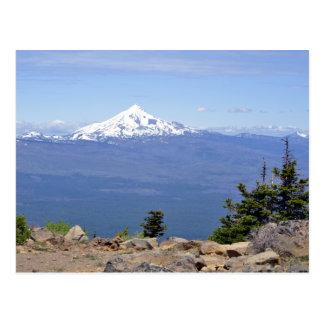 Cartão Postal Mt. Jefferson do montículo preto