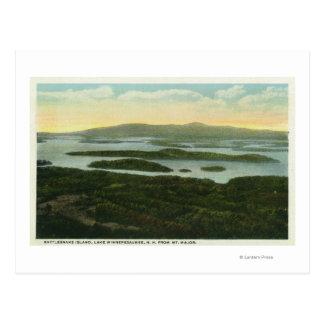 Cartão Postal Mt. Vista aérea principal da ilha do cascavel,