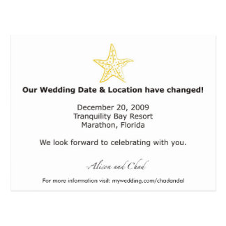 Cartão Postal Mudança-Actualização da data de Alison