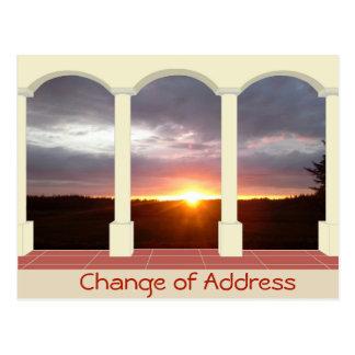Cartão Postal Mudança de endereço personalizada