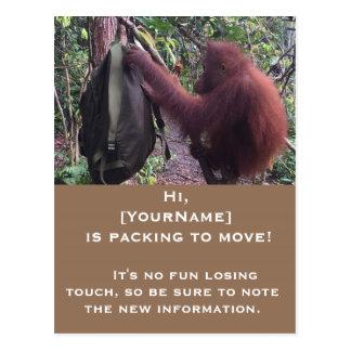 Cartão Postal Mudança do anúncio do divertimento de endereço