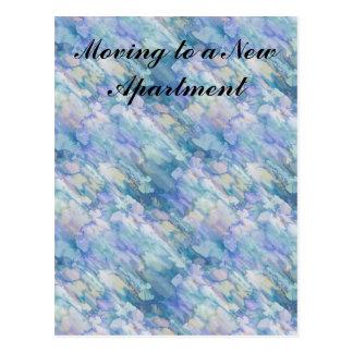 Cartão Postal Mudança do apartamento da aguarela de endereço