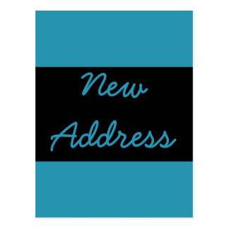 Cartão Postal mudança do endereço do azul de turquesa