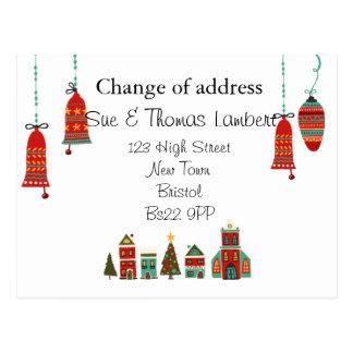 Cartão Postal Mudança do Natal de endereço