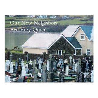 Cartão Postal Mudança dos vizinhos quietos de endereço engraçada