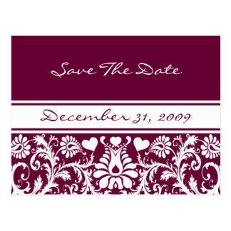 Cartão Postal Mudança floral do casamento a alguma cor
