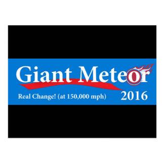 Cartão Postal Mudança real do meteoro 2016 gigantes em 150.000
