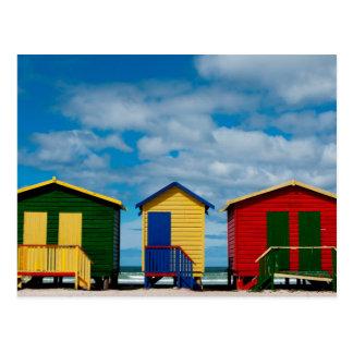 Cartão Postal Mude salas. Praia de Muizenberg, Cape Town