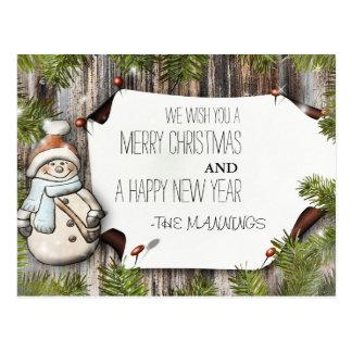 Cartão Postal Muito Feliz Natal e feliz ano novo