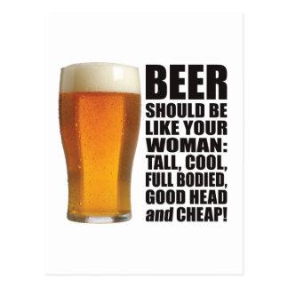 Cartão Postal Mulher da cerveja