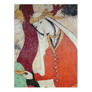 Cartão Postal Mulher da corte de Shah Abbas mim, 1585-1627