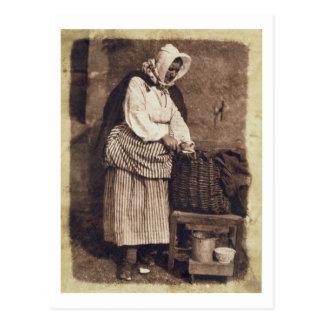 Cartão Postal Mulher da ostra, 1843-47 (impressão do papel de