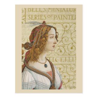 Cartão Postal Mulher de Botticelli