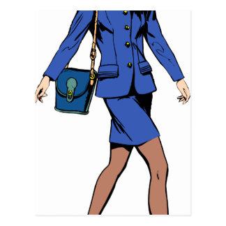 Cartão Postal Mulher de negócio
