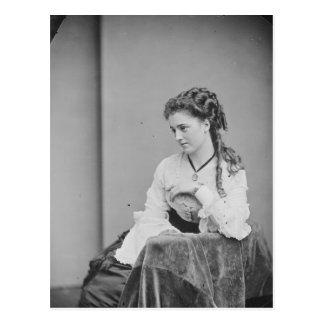Cartão Postal Mulher desconhecida bonita da era da Civil-Guerra