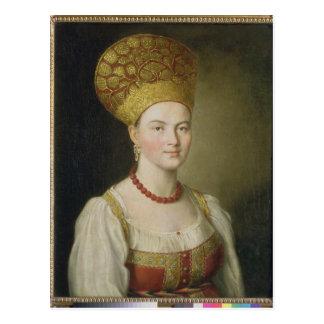 Cartão Postal Mulher do camponês no traje do russo, 1784