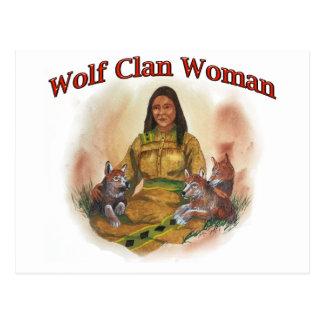 Cartão Postal Mulher do clã do lobo