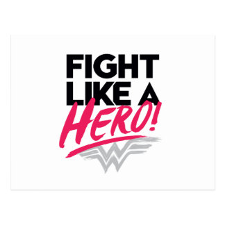 Cartão Postal Mulher maravilha - luta como um herói