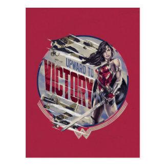 Cartão Postal Mulher maravilha para cima à vitória