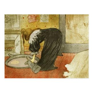 Cartão Postal Mulher na cuba por Henri de Toulouse-Lautrec