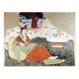Cartão Postal Mulher no jardim de Shah Abbas mim
