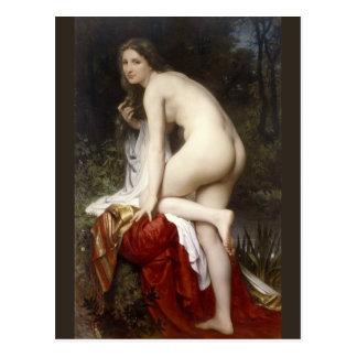 Cartão Postal Mulher que banha-se (Baigneuse) por Bouguereau