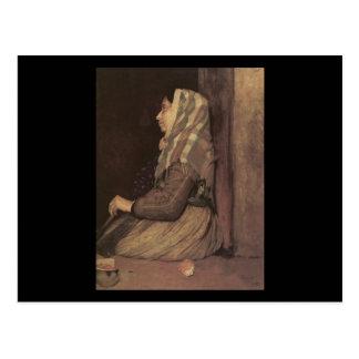 Cartão Postal Mulher romana do mendigo de Edgar Degas