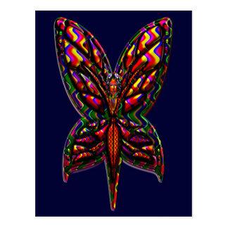 Cartão Postal Mulher três F da borboleta