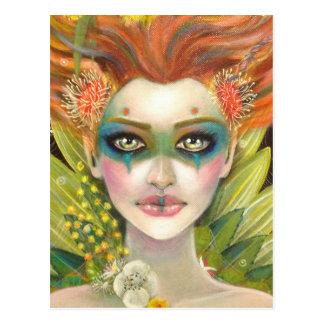 Cartão Postal Mulher verde