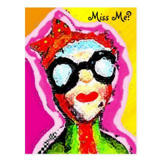 Cartão Postal mulher viva, senhorita Me?