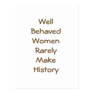 Cartão Postal Mulheres bem comportadas