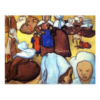 Cartão Postal Mulheres bretãs após Emile Bernard por Van Gogh