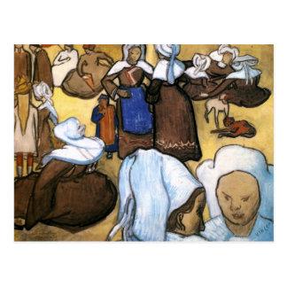 Cartão Postal Mulheres bretãs, Vincent van Gogh