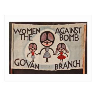 Cartão Postal Mulheres de Glasgow Govan contra a bomba
