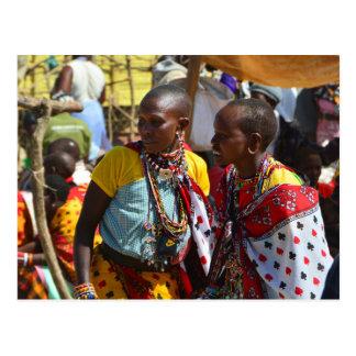 Cartão Postal Mulheres de Maasai