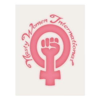 Cartão Postal Mulheres desagradáveis internacionais