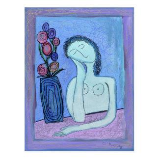 Cartão Postal Mulheres e flores por Ian Roz